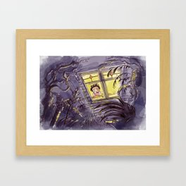 Afraid of the Dark Framed Art Print