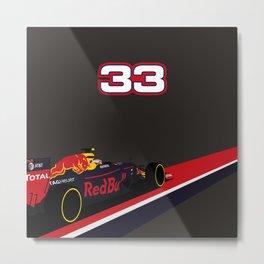 Max Verstappen, race winner Spain 2016 Metal Print