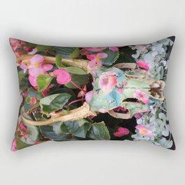 Painted Skull - III Rectangular Pillow
