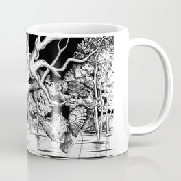 Owl's old oak is occupied by octopuses Coffee Mug