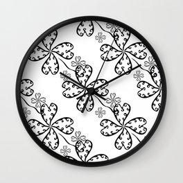 Lucky Clovers Wall Clock