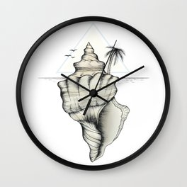Secret Island Wall Clock
