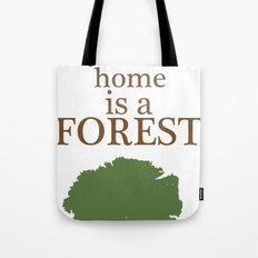 My Second Home is a Forest Tote Bag
