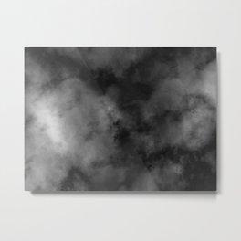 Grunge black grey Metal Print