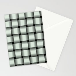 Large Pastel Green Weave Stationery Cards