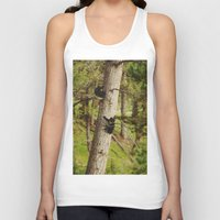 climbing Tank Tops featuring Climbing Cubs by Kevin Russ