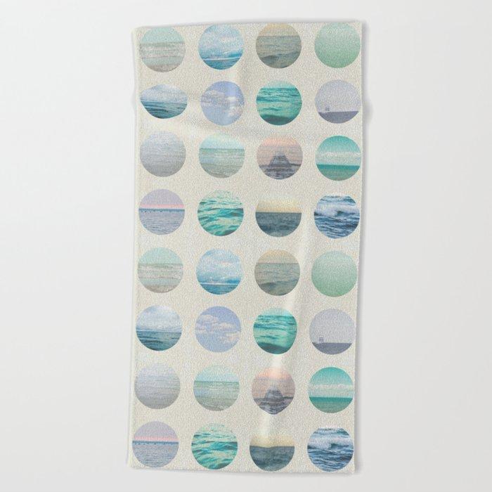 Ocean Polka dot  Beach Towel