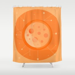 Planet B - Trappist System Shower Curtain