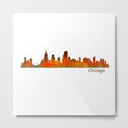 Chicago City Skyline Hq v1 Metal Print