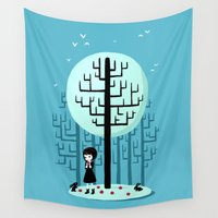 snow white Wall Tapestries featuring Snow White by Freeminds
