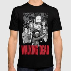 Walking Dead Mens Fitted Tee 2X-LARGE Black