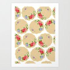 Vintage Saucers Art Print