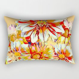 WHITE-RED FLOWER STILL LIFE CREAMY PASTELS Rectangular Pillow