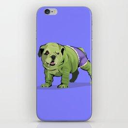 The Incredible Bulldog iPhone Skin