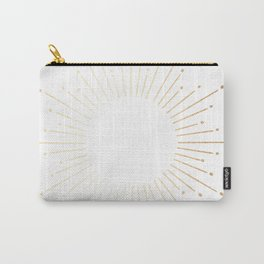 Sunburst Gold Copper Bronze on White Carry-All Pouch