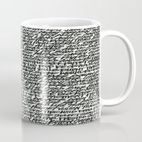 word Mugs featuring Word by Abstractink82