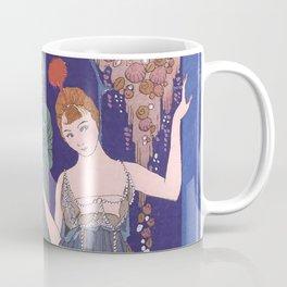 George Barbier The Shell Fountain 1914 Coffee Mug