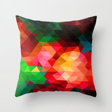 Color Contrast Throw Pillow
