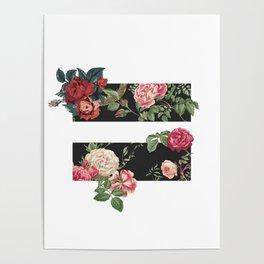 floral equality symbol Poster