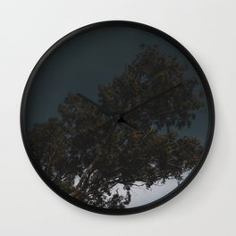 Dark Sky and Tree Wall Clock