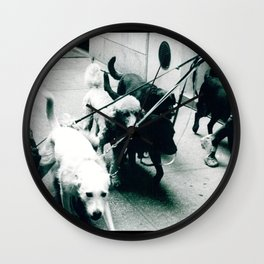 Dog Walker NYC  Wall Clock