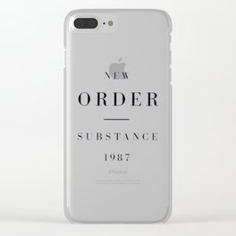 New Order - Techno Pop Clear iPhone Case