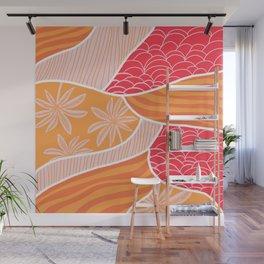 kauai, orange Wall Mural