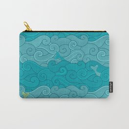 Surf Side - AQUA Carry-All Pouch