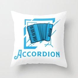 Accordion Concertina Melodeon Piano Accordion Gift Throw Pillow