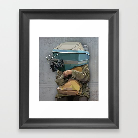 excuse me Framed Art Print