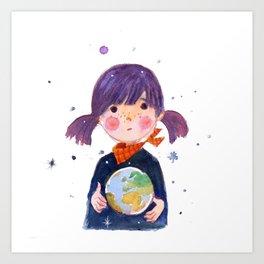 Little Earth Art Print