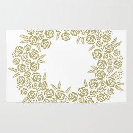 christmas floral wreath Rug