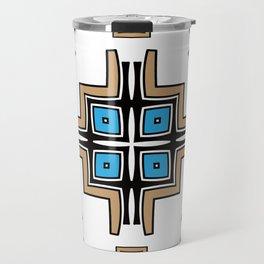 aztec cross mandala Travel Mug