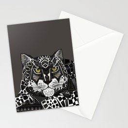 snow leopard lead Stationery Cards
