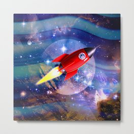 Red Rocket Metal Print
