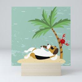 The Ultimate Dog Vacation pattern Mini Art Print