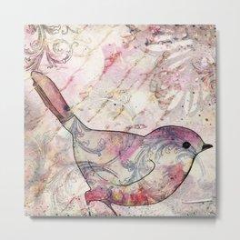 Sweet autumn birdie Metal Print