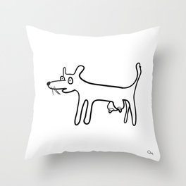 Tit-Dog Throw Pillow