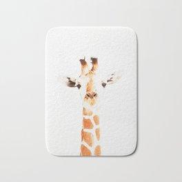 Giraffe watercolor Bath Mat