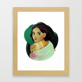 Una princesa Framed Art Print