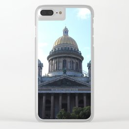 Isaac Cathedral dome facade with bell towers Clear iPhone Case