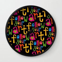 follow your art ... Wall Clock