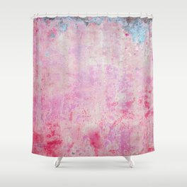 abstract vintage wall texture - pink retro style background Shower Curtain