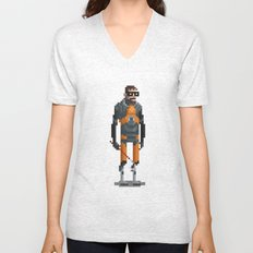 Man With a Crowbar Unisex V-Neck
