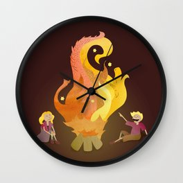 Campfire Magic Wall Clock