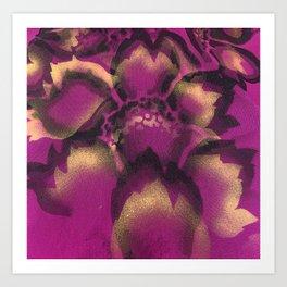 Magenta Peony Flower Design Art Print