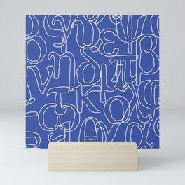 Greek Alphabet Mini Art Print