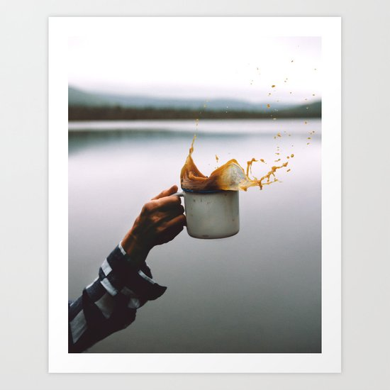 Coffee Cheers Art Print