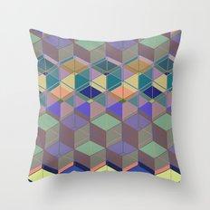 Cube Geometric V Throw Pillow