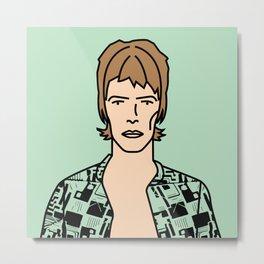 David Bowie – Ziggy Stardust Metal Print